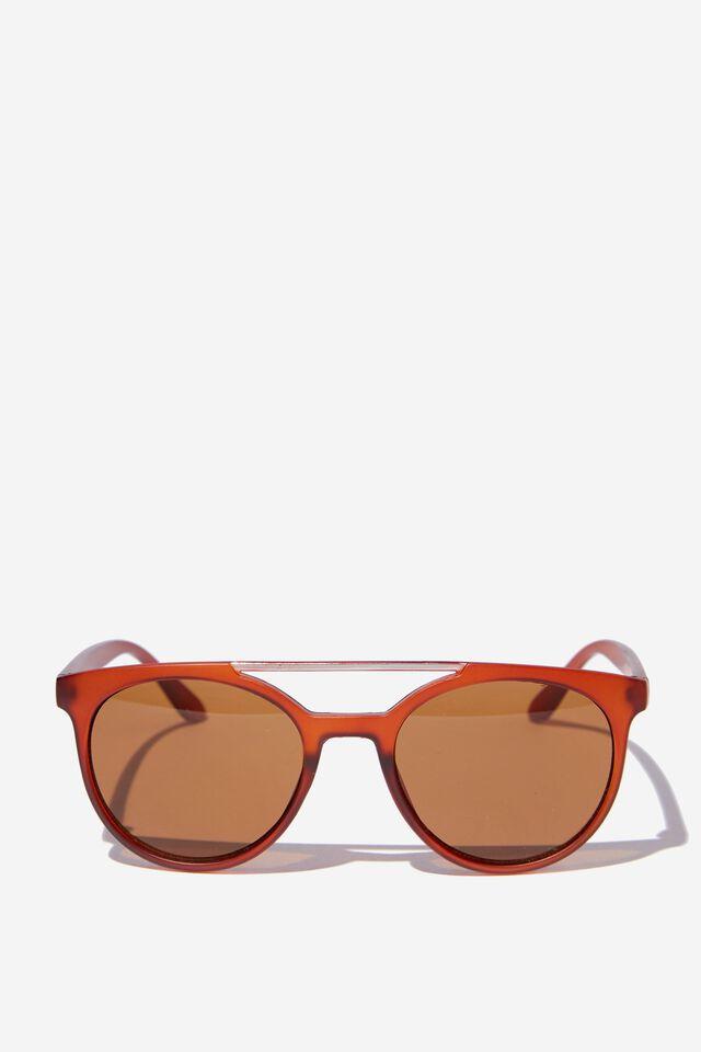 Kids Beach Sunglasses, AMBER BROWN T-BAR