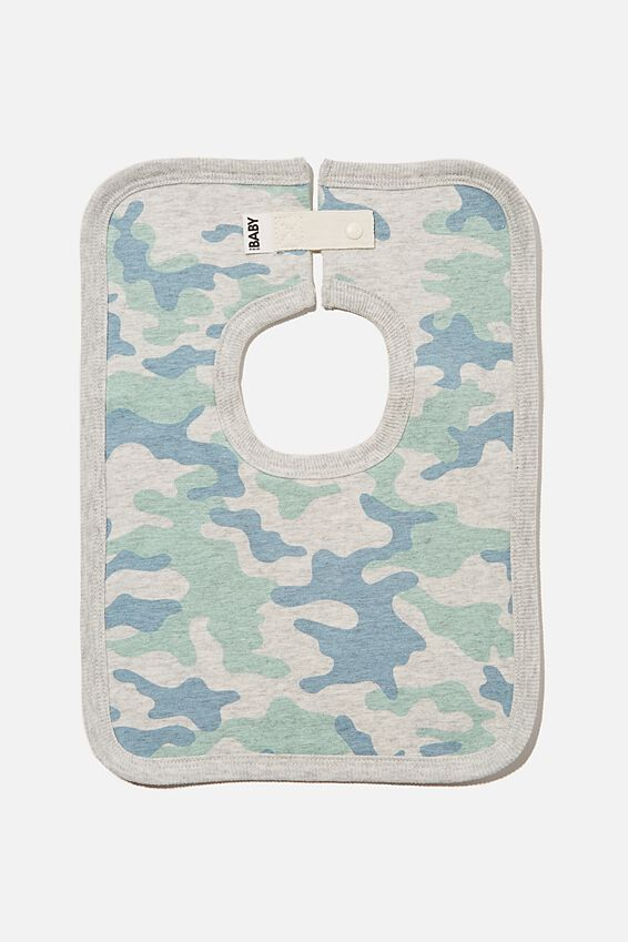 The Square Bib, CLOUD MARLE/STONE GREEN CAMO