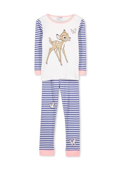 Kristen Long Sleeve Girls PJs, BAMBI BUTTERFLY