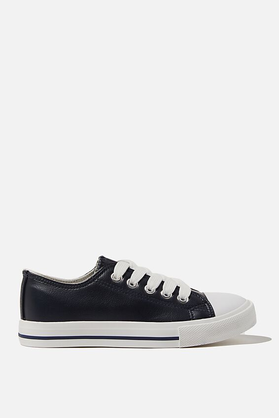 Classic Trainer Lace Up, NAVY SMOOTH