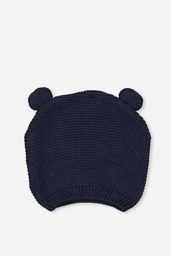 Baby Knit Beanie, BCI INDIAN INK