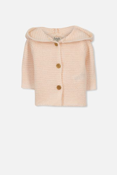 Taylor Hooded Knit, SHELL PEACH