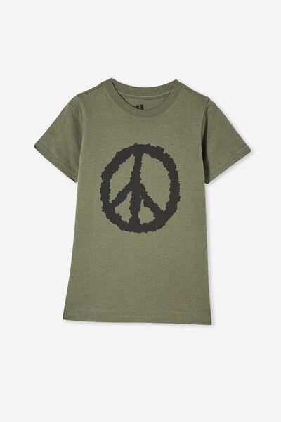 Max Short Sleeve Tee, SWAG GREEN/ PEACE SIGN