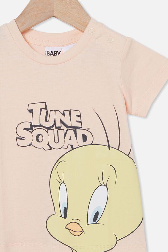 Space Jam Jamie Short Sleeve Tee, LCN WB PEACH TANG/SPACE JAM TWEETY