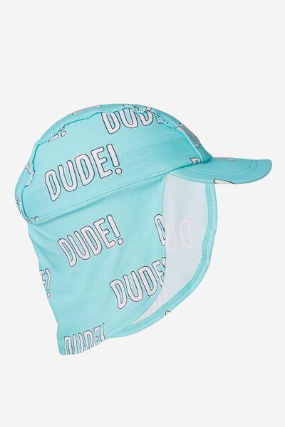 Swim Hat, PALE BLUE/SLOGAN