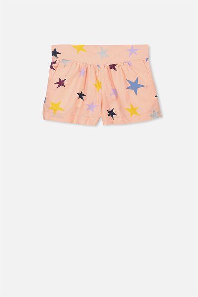 Callie Short, PEACH BUD/STARS PRINT