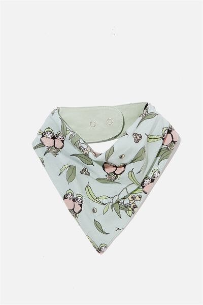 The Kerchief Bib, LCN MAY STONE GREEN/GUMNUT BABIES