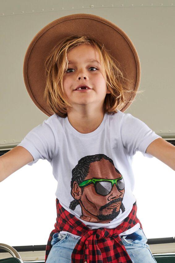 Snoop Dogg Short Sleeve Tee, LCN MT WHITE/SNOOP DOG