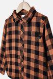 Rugged Long Sleeve Shirt, AMBER BROWN/BLACK BUFFALO CHECK
