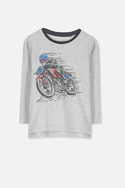 Tom Long Sleeve Tee, MOTORBIKE/SIS