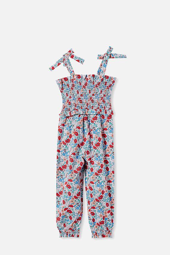 Imogen Shirred Jumpsuit, PINK QUARTZ/JOLLY FLORAL