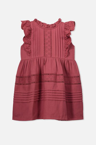Sasha Sleeveless Dress, EARTH RED