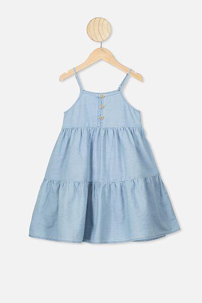 Mackenzie Sleeveless Dress, LIGHT BLUE WASH