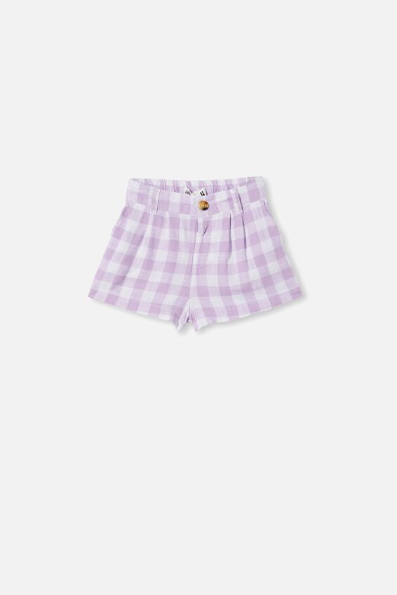 Cassidy Short, SUMMER VIOLET/ GINGHAM