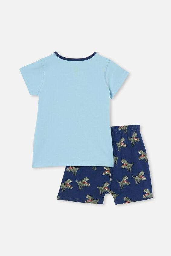 Hudson Short Sleeve Pyjama Set, TREX LOVE SKY HAZE
