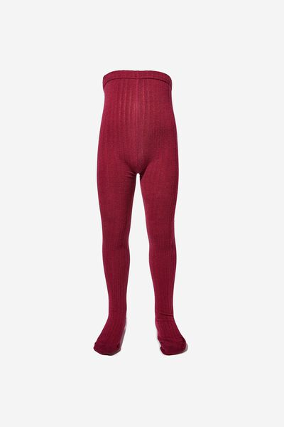 Ribbed Solid Tight, PLUM PURPLE