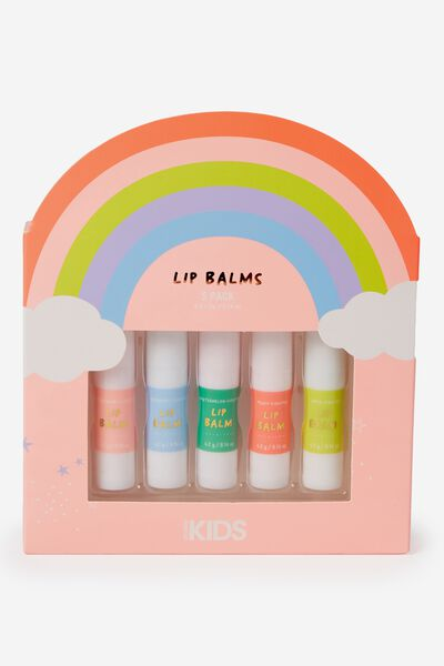 Lip Balm 5 Pack, FRUITS