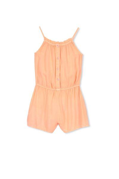 Callie Short Jumpsuit, FLURO CORAL