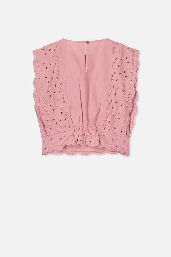 Maisie Frill Sleeve Top, SWEET BLUSH