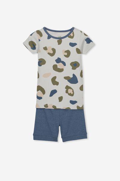 Peter V4 Boys Short Sleeve Pajama Set, CAMO YARDAGE