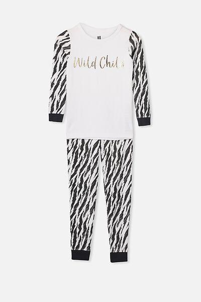 Lila Long Sleeve Pyjama Set, WILD CHILD