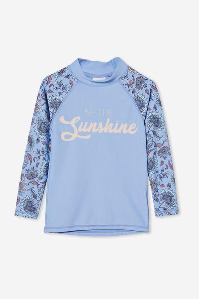 Hamilton Long Sleeve Rashie, DUSK BLUE/ROCKY PAISLEY FLORAL SUNSHINE