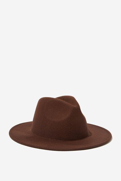 Wide Brim Hat, FRENCH ROAST