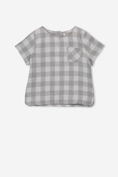 Tate Short Sleeve Shirt, STORMY SEA/REMY GINGHAM