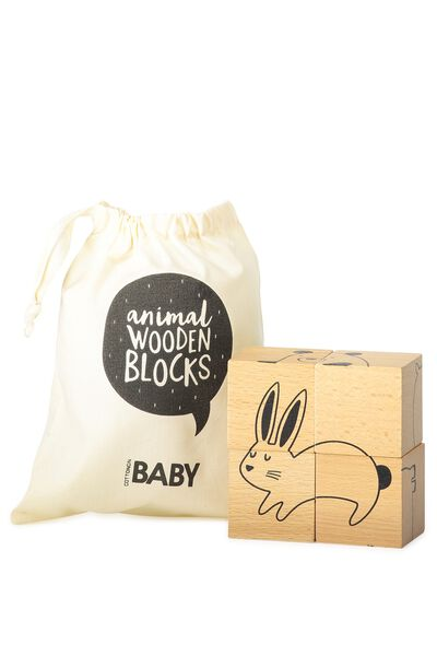 Baby Wooden Blocks, NATURAL