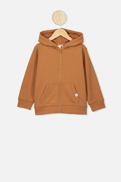 Sunny Zip Through Hoodie, AMBER BROWN