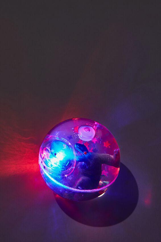 Dinosaur Light Bouncy Ball, GREEN DINOSAUR