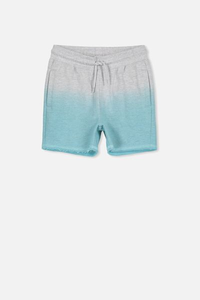 Henry Slouch Short, LT GREY MARLE/SEA TINT DIP