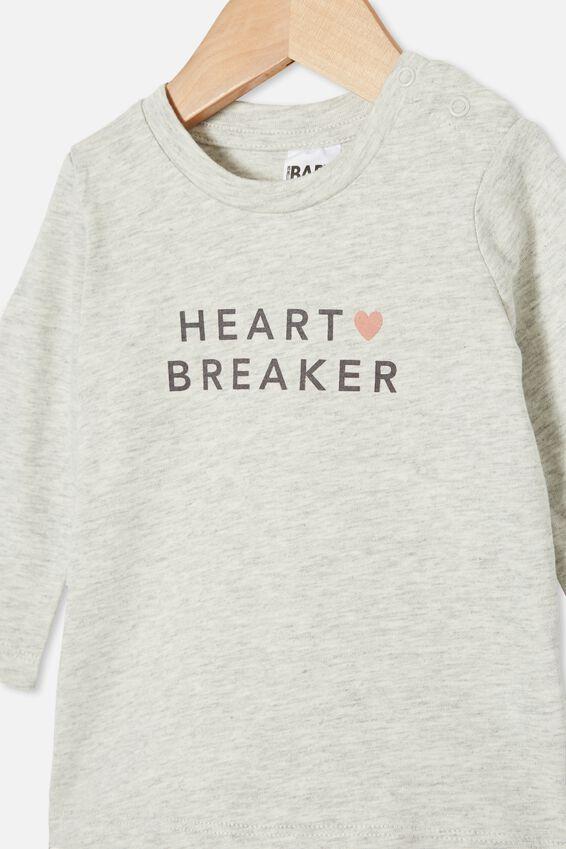 Jamie Long Sleeve Tee, CLOUD MARLE/HEART BREAKER