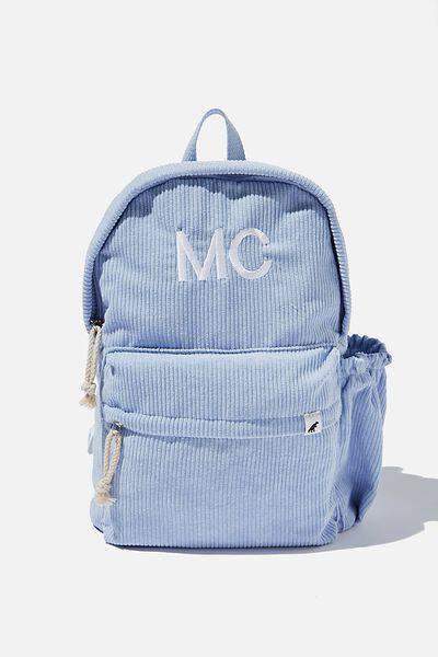 Personalised Back To School Cord Backpack, SKY HAZE