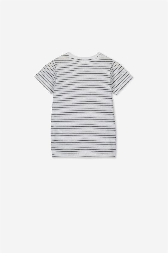 Core Short Sleeve Tee, WHITE/BLACK
