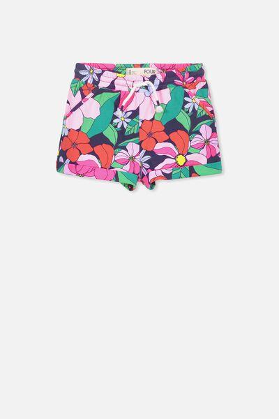 Nila Knit Short, PEACOAT/RETRO FLORAL