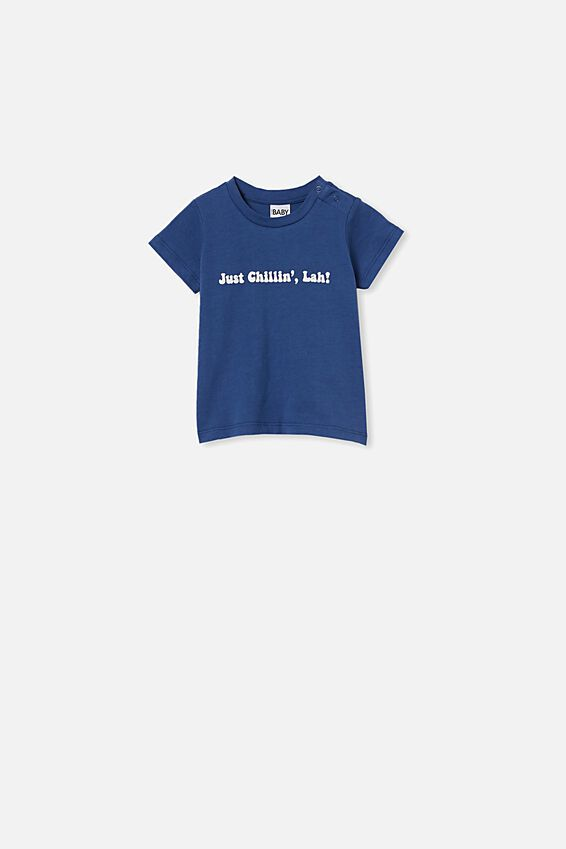 Jamie Short Sleeve Tee, PETTY BLUE/JUST CHILLIN