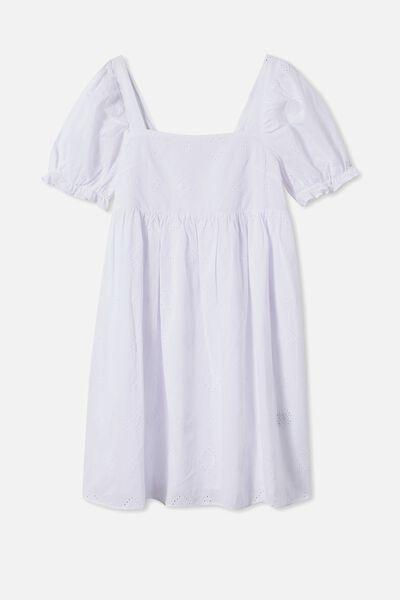 Mama Lucy Short Sleeve Dress, WHITE