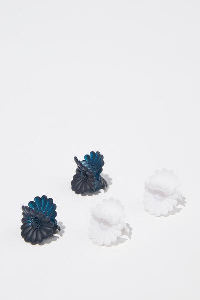 Mini Claw Clips, FLOWER/MULTI