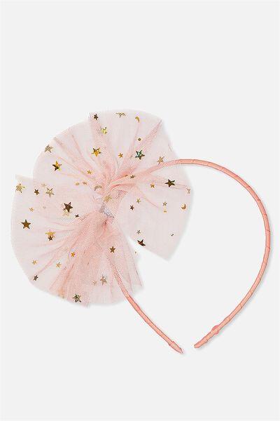 Tulle Dressup Headband, SHELL PEACH STARS