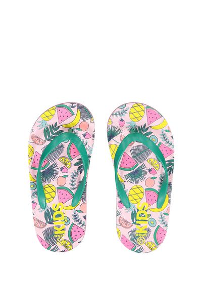 Printed Flip Flop, G FRUITY FOLIAGE