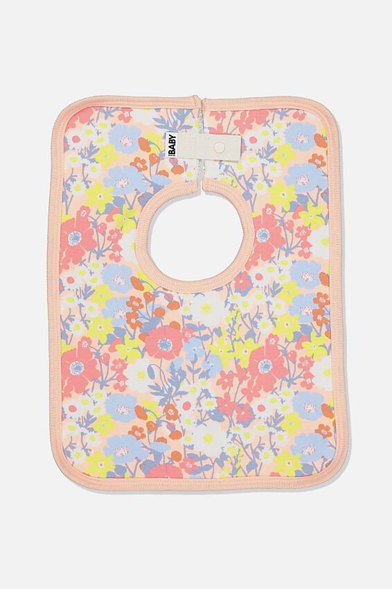 The Everyday Bib, PASTEL PEACH/MEADOW FLORAL