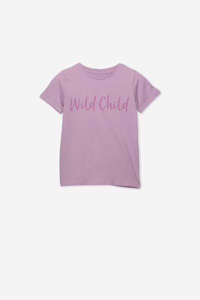 Penelope Short Sleeve Tee, CHAULKY MAUVE/WILD CHILD/MAX