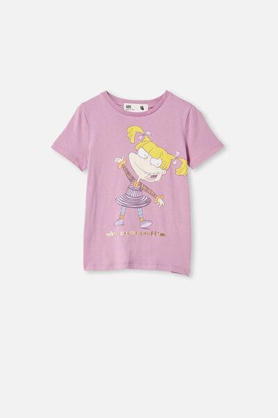 License Short Sleeve Tee, LCN NIC CHALKY MAUVE/ANGELICA