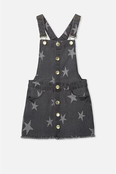 Sunny Skirtall, GREY WASH/STAR PRINT