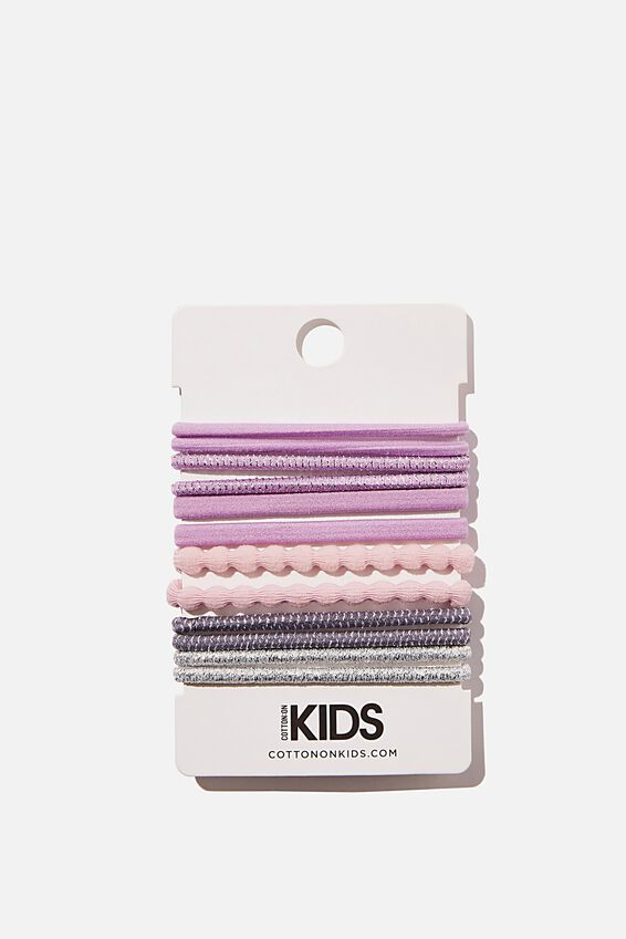 Knot Messy Hair Ties - Round, LILAC SHIMMERS