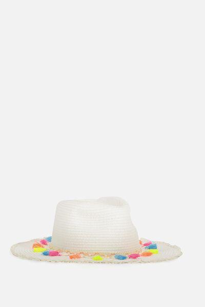 Floppy Hat, VANILLA/TASSEL