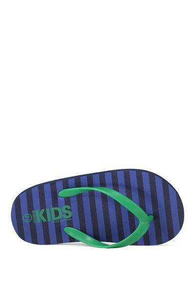 Printed Flip Flop, PEACOAT STRIPE B