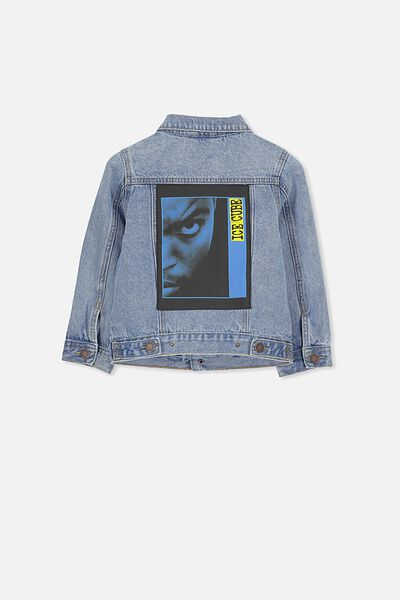 License Denim Jacket, LCN MT ICE CUBE MOST WANTED/BLUE