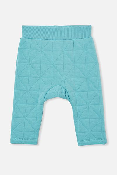 Emerson Quilted Trackpant, BLUE ICE